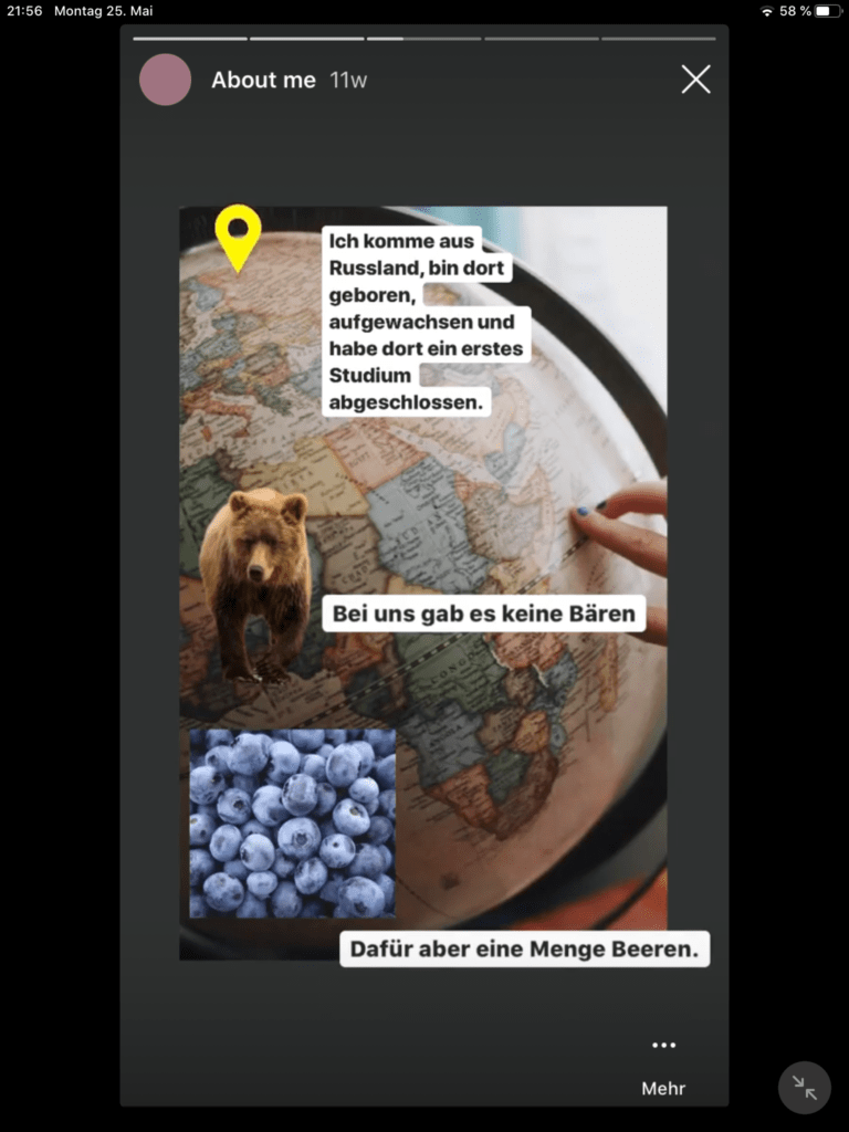 Stories side Geschichten